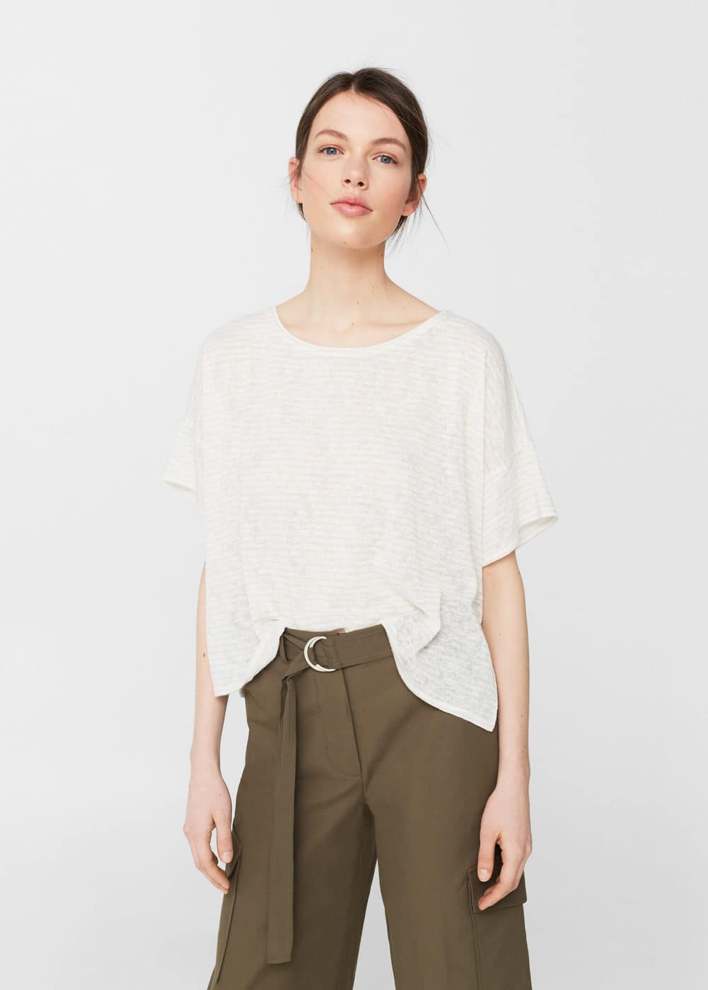 Metallic thread t-shirt | MANGO