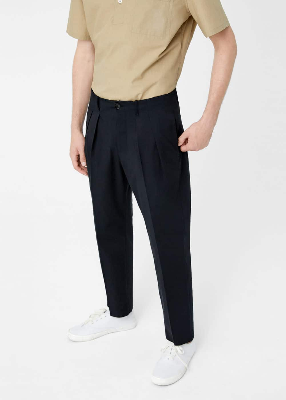 Pleat detail trousers | MANGO MAN