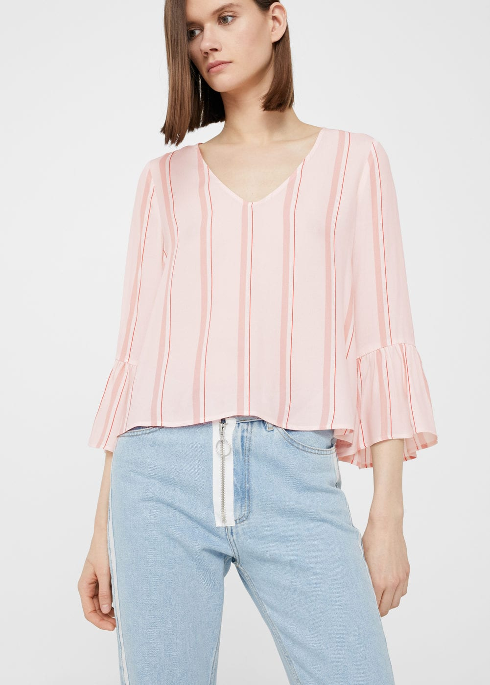 Striped blouse | MANGO