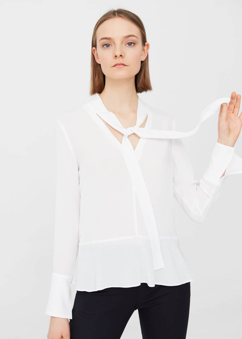 Tie-neck blouse | MNG