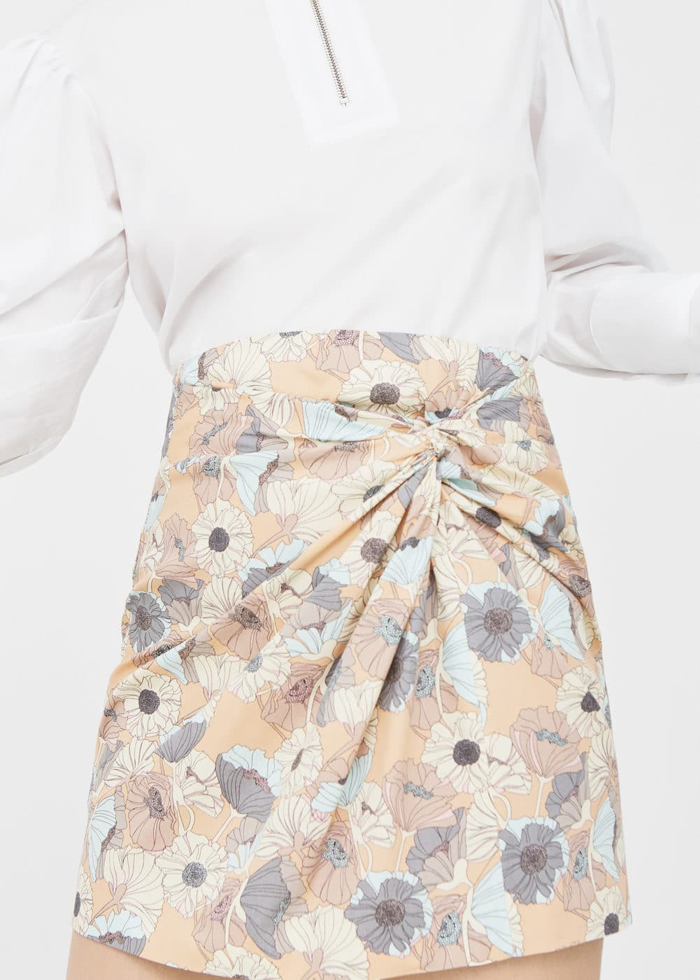 Draped printed skirt | MNG