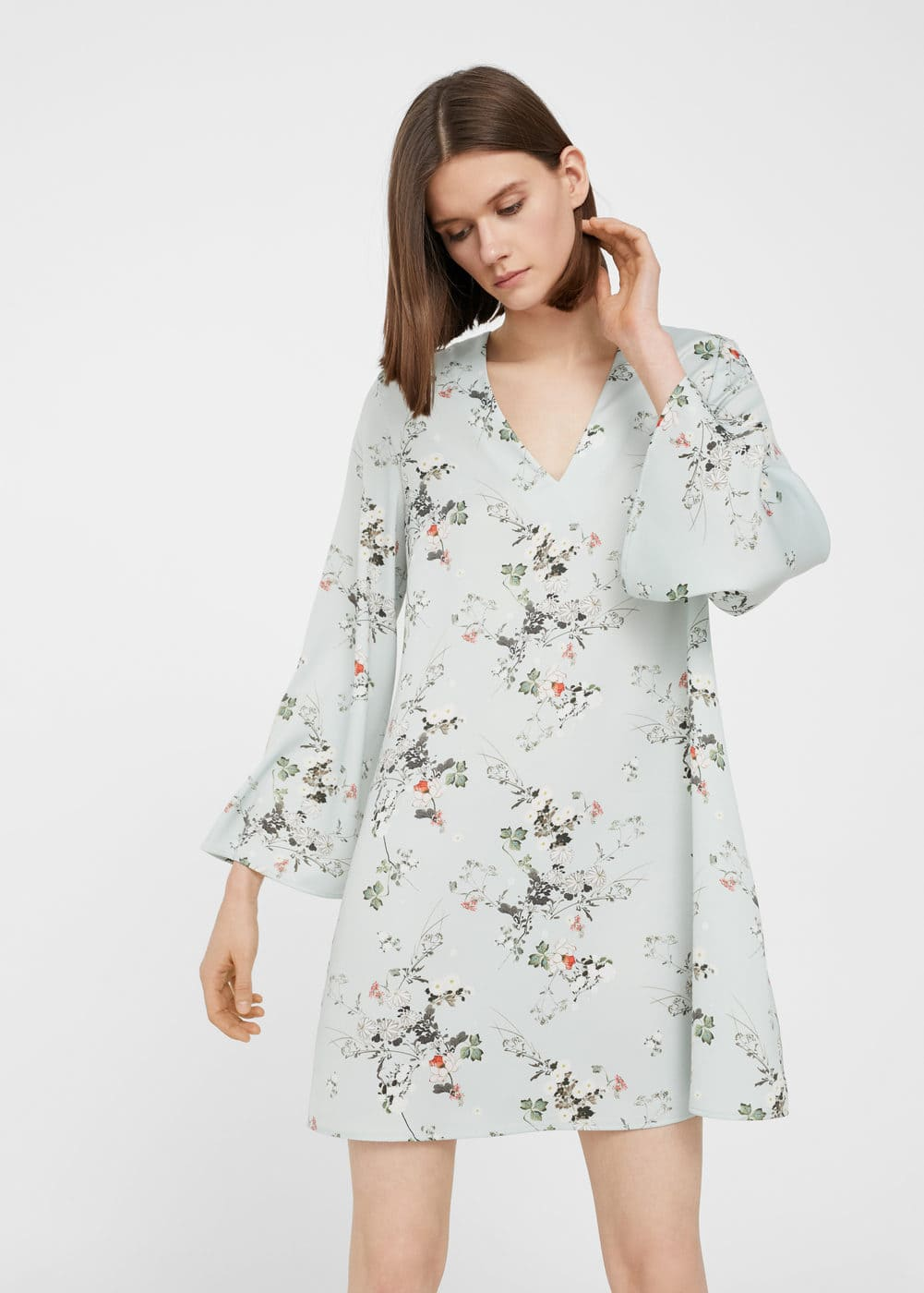 Floral lightweight dress | MANGO