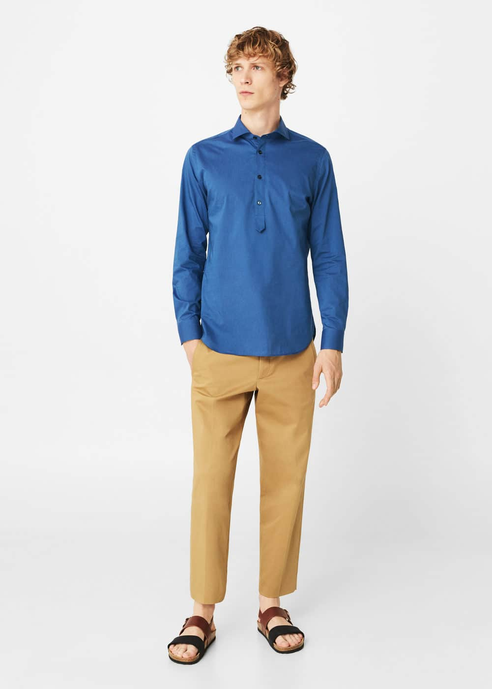 Regular-fit cotton shirt | MANGO MAN