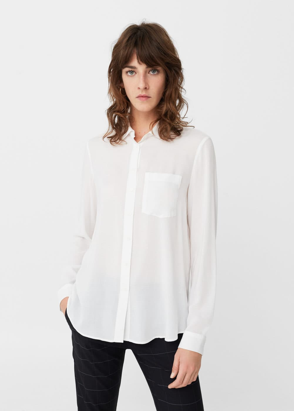 Pocket flowy shirt | MANGO