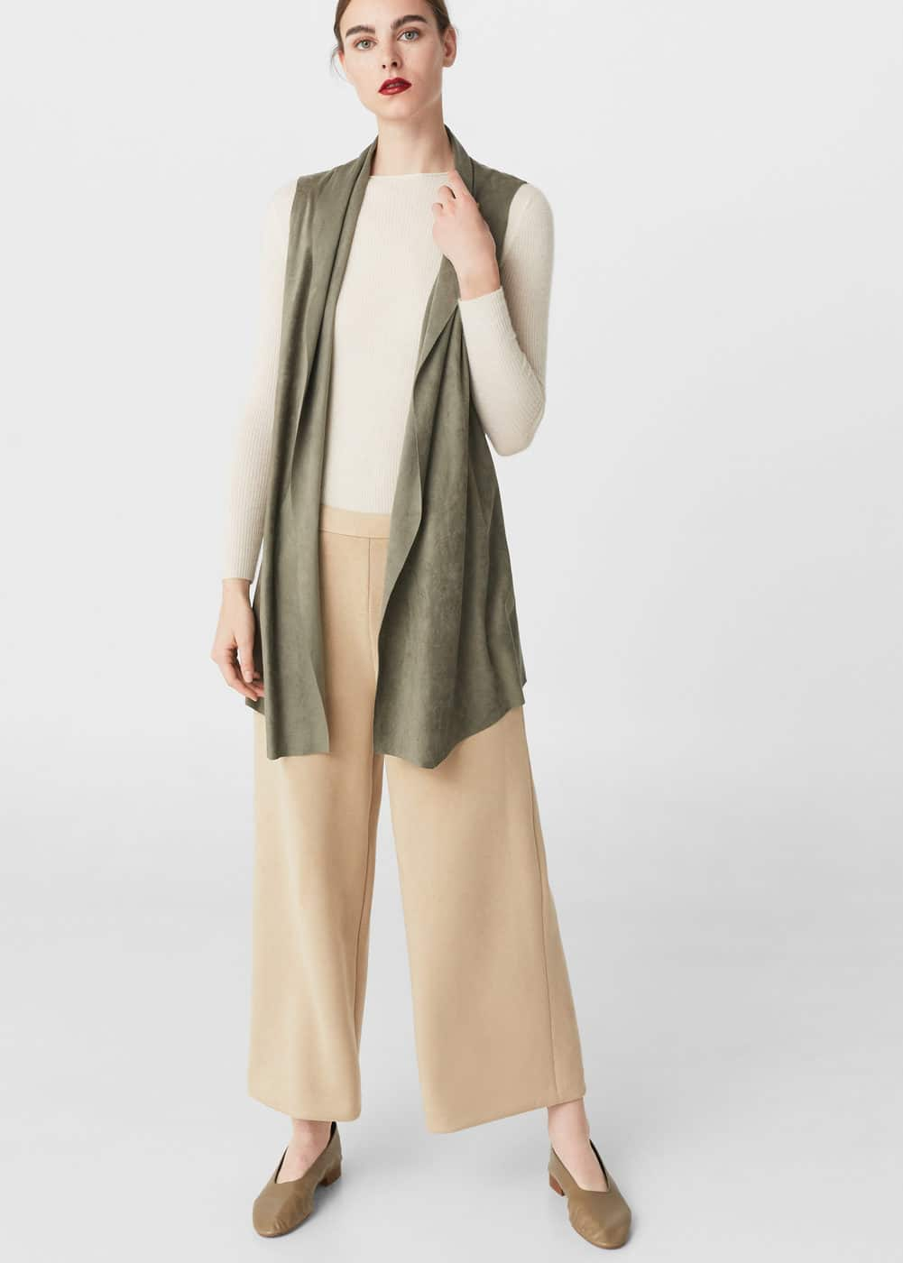 Lightweight waterfall gilet | MANGO