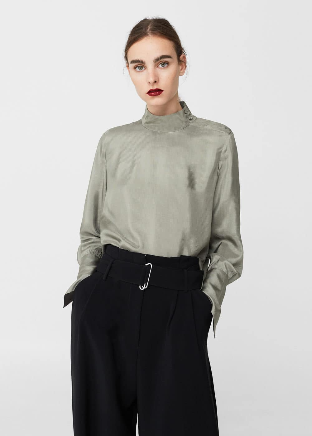 Satin blouse | MANGO