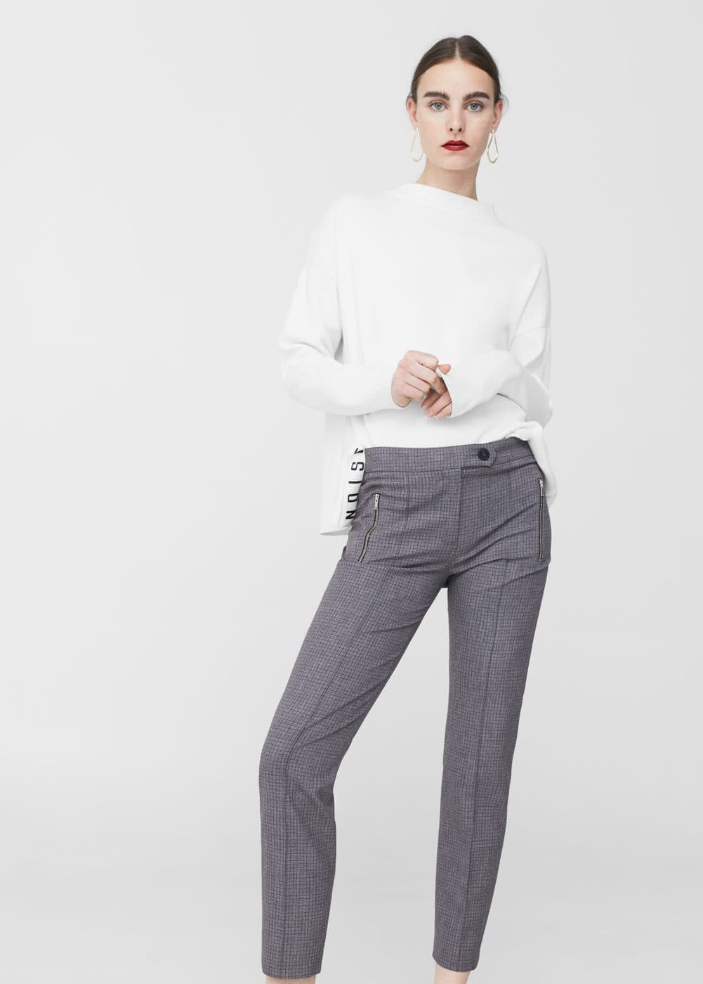 Check suit trousers | MANGO