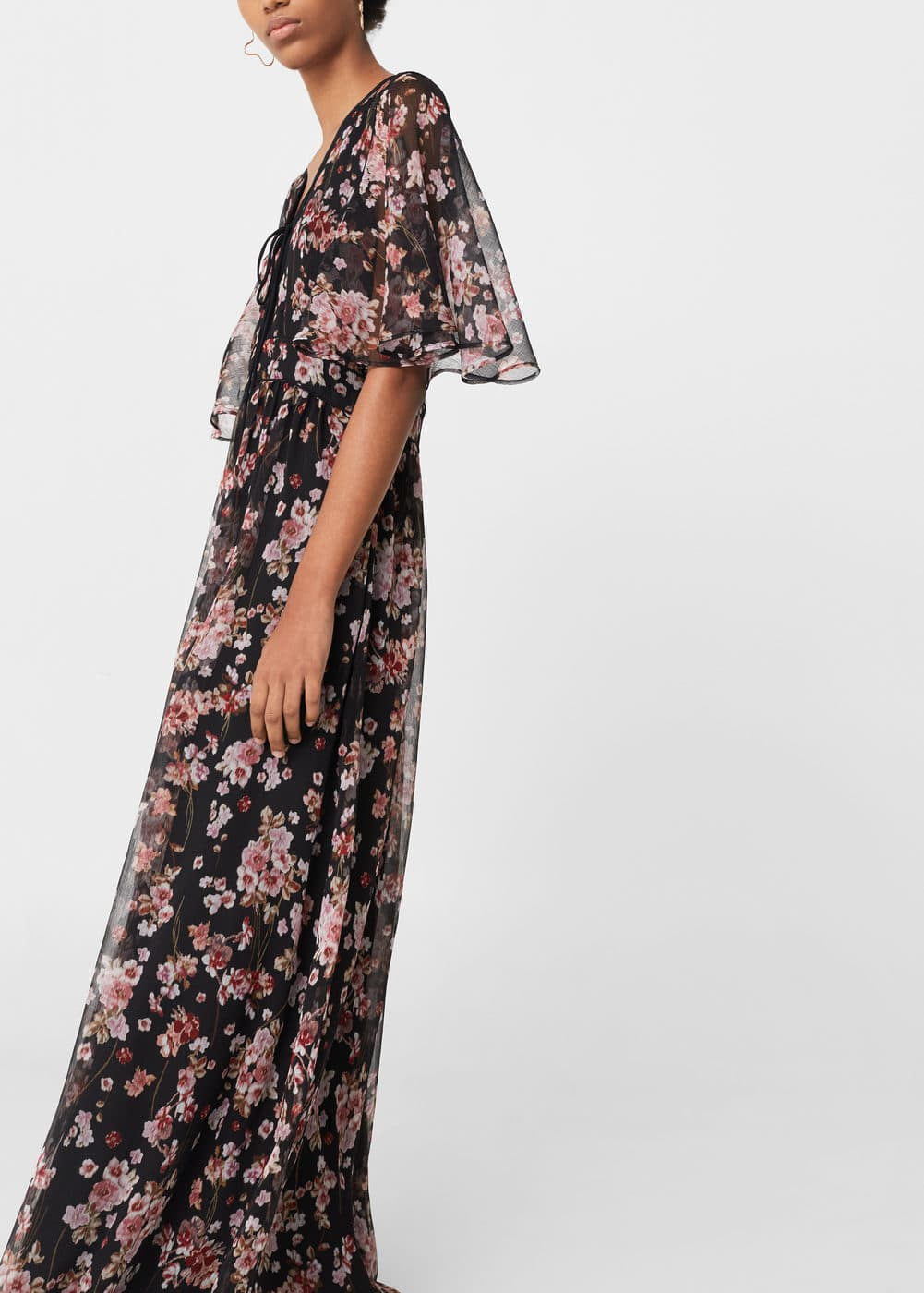 Printed chiffon dress | MNG