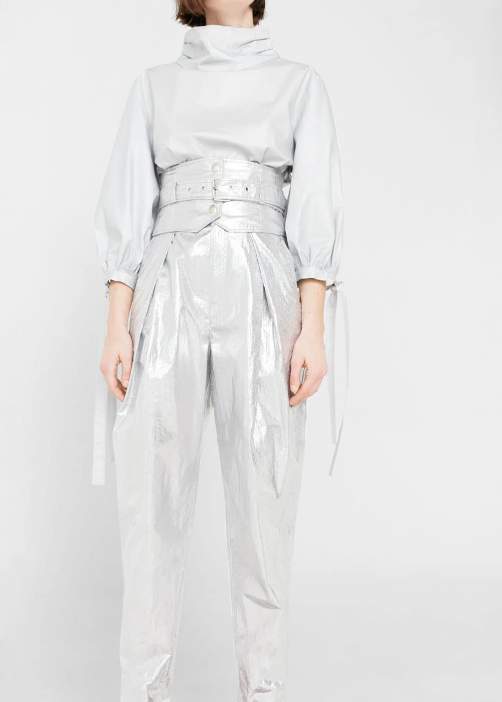 Sash metallic trousers | MANGO