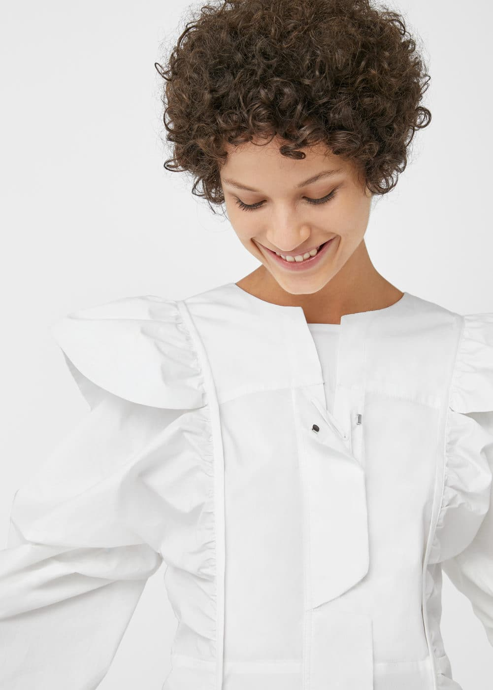 Ruffled poplin dress | MANGO