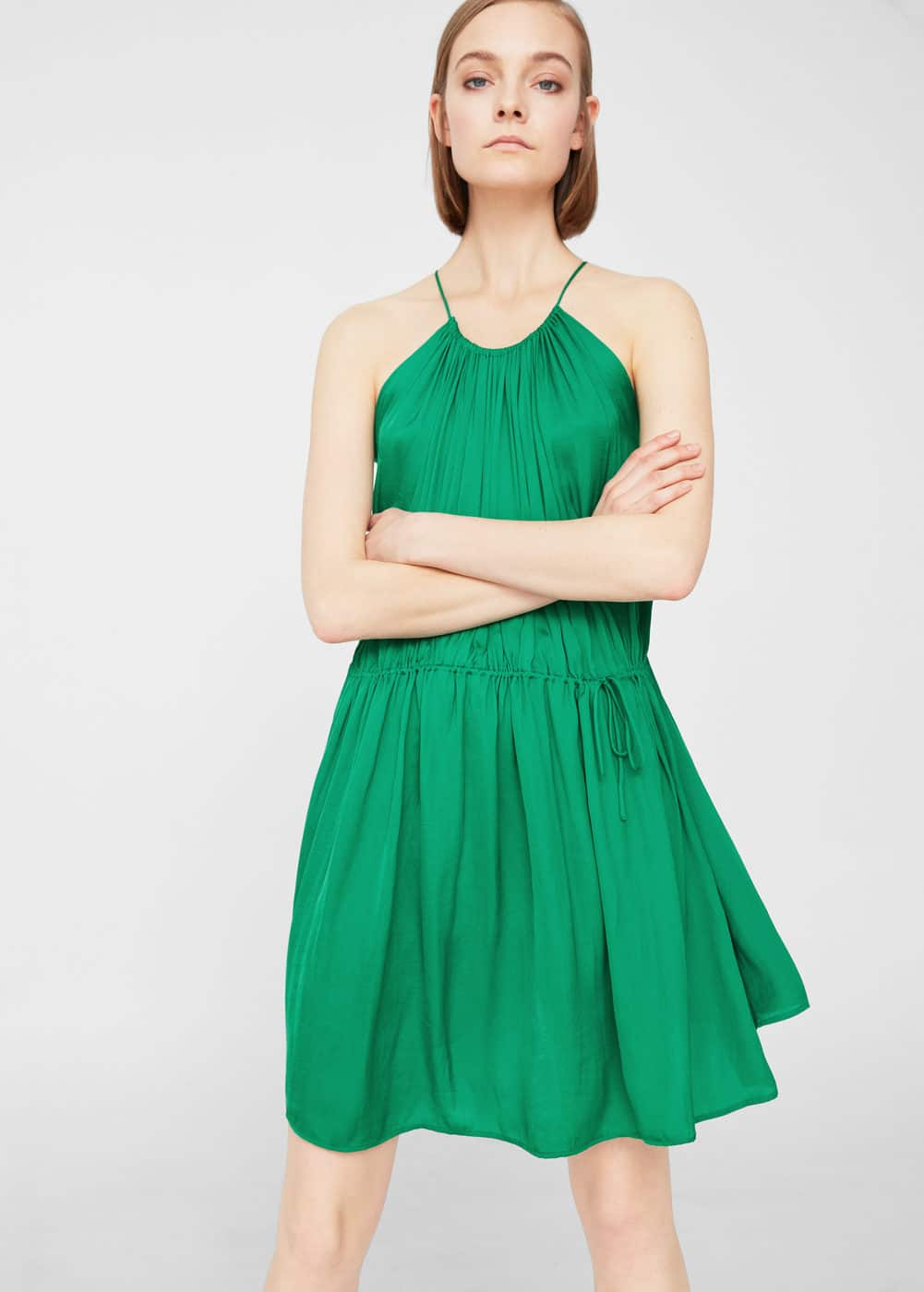 Halter neck dress | MANGO