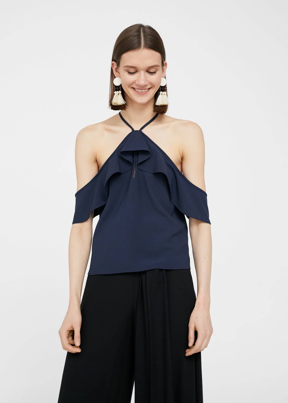 Off shoulder-top | MANGO