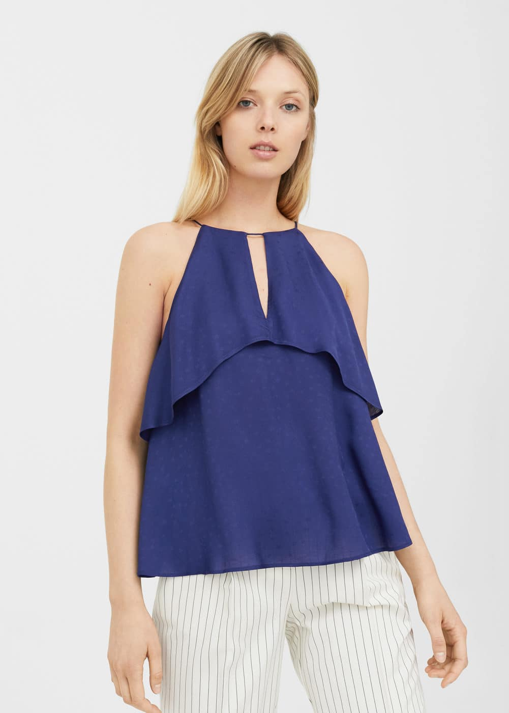Ruffled flowy top | MANGO