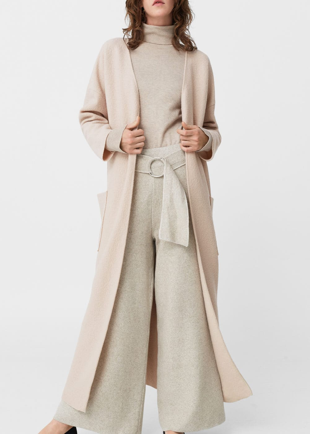 Oversize wool coat - Women | MANGO USA