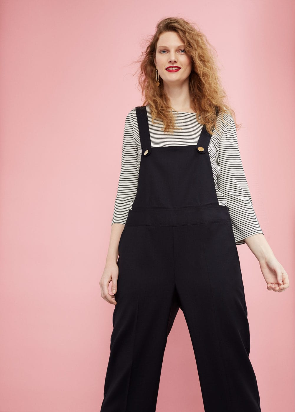 Wool long jumpsuit | MANGO