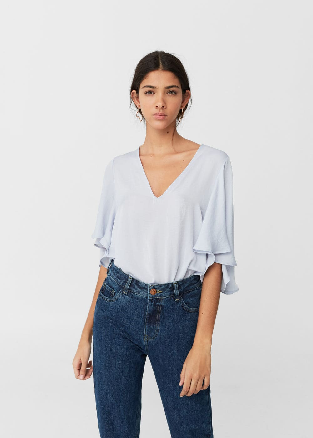 Ruffled sleeve bodysuit | MNG