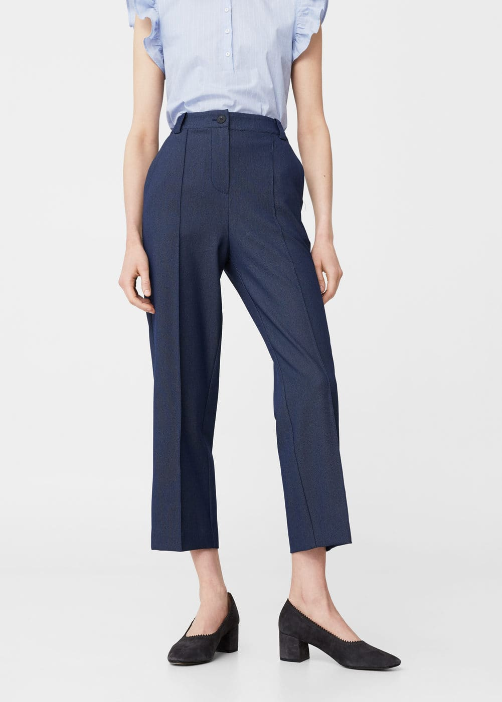 Suit cropped trousers | MANGO
