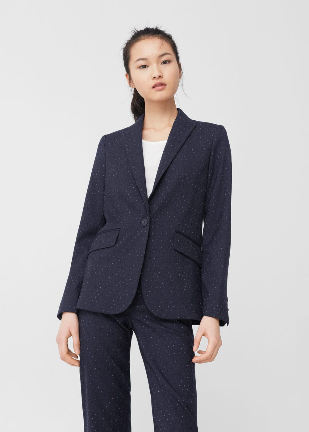 Structured polka-dot blazer | MANGO