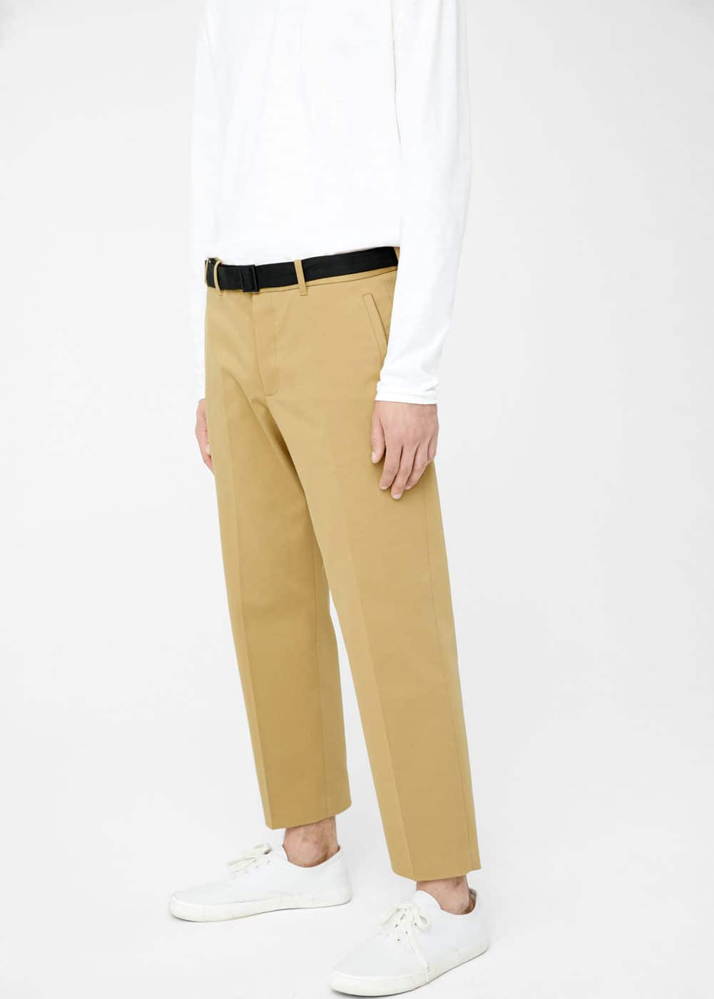 Straight-fit cotton chinos | MANGO MAN