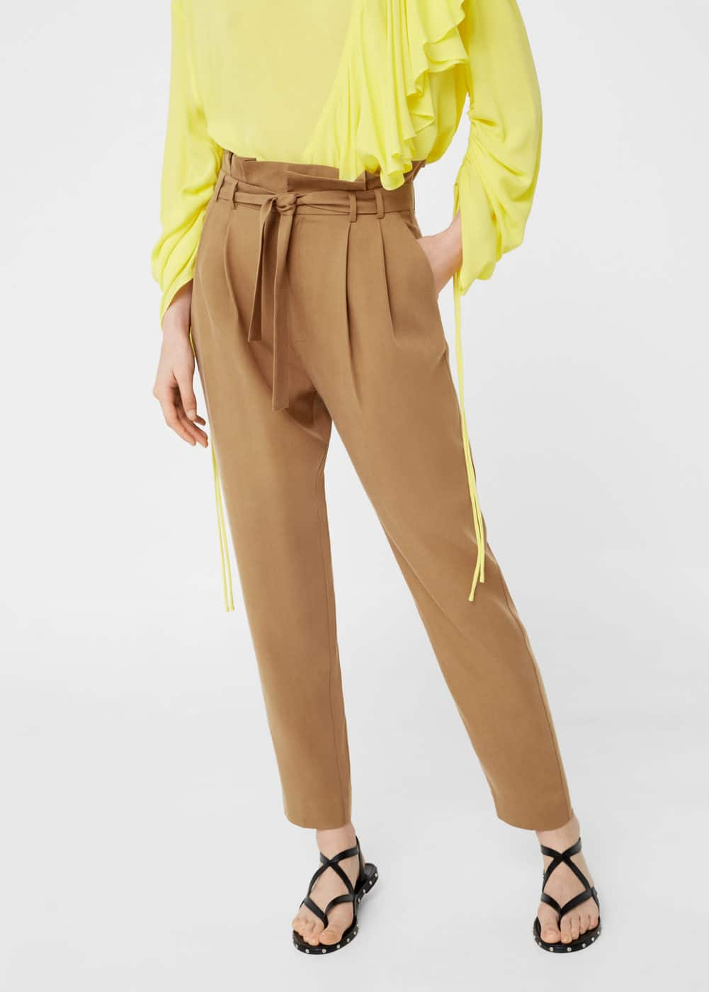 Soft cord trousers | MANGO