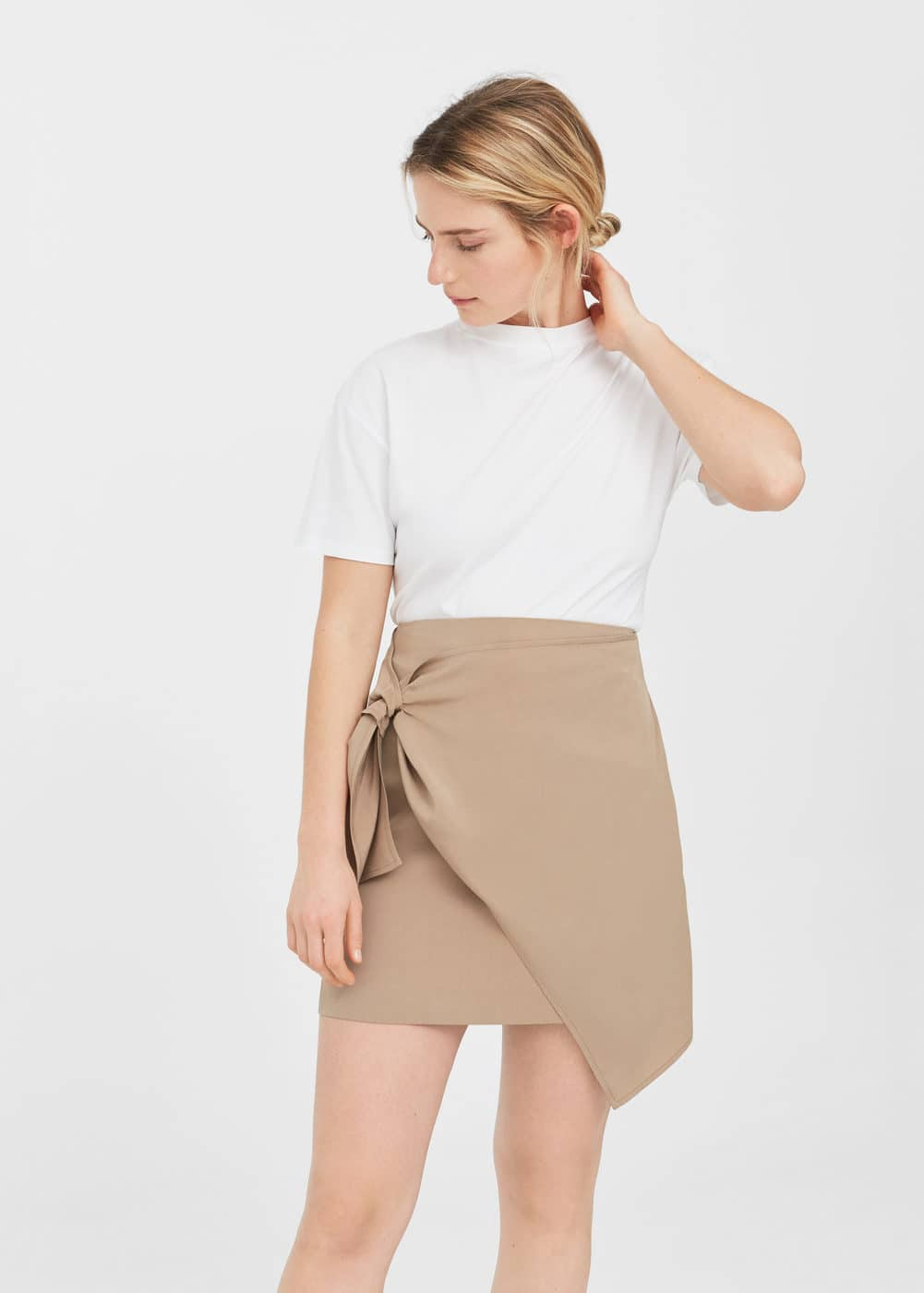 Decorative knot skirt | MANGO