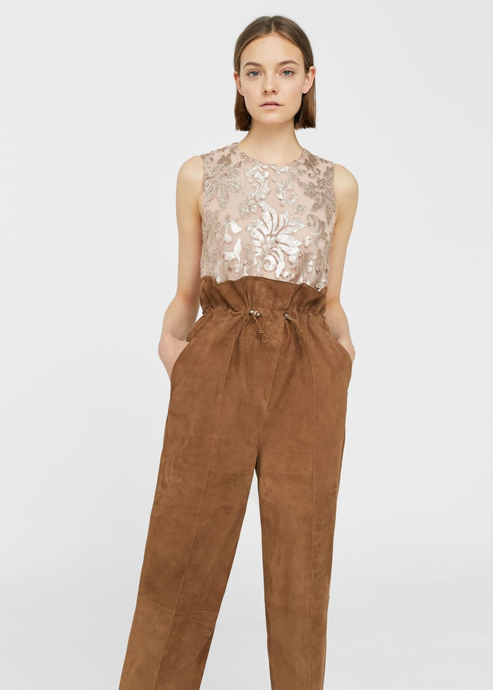 Top brodé sequins | MANGO