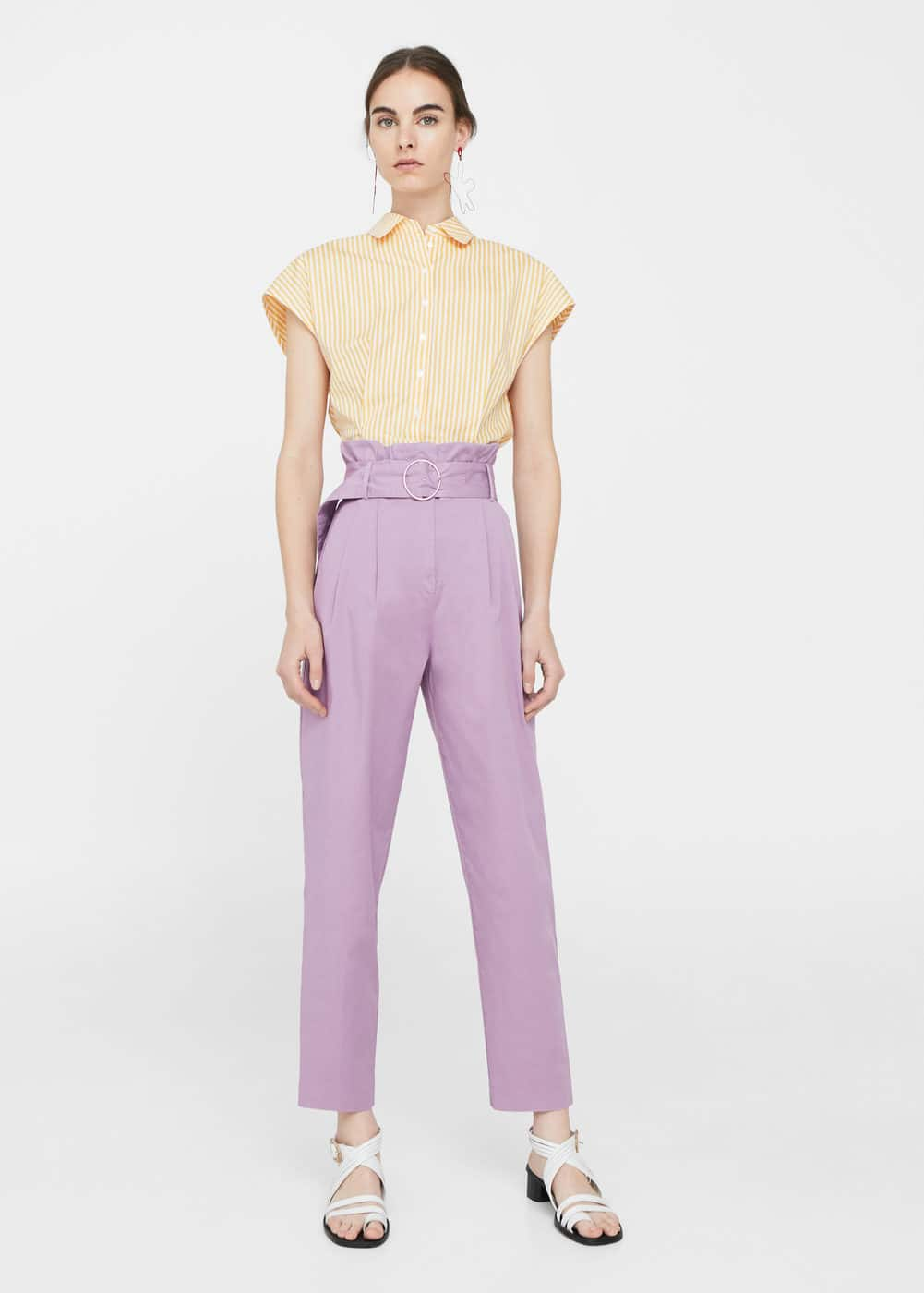 Buckle pleated trousers | MANGO