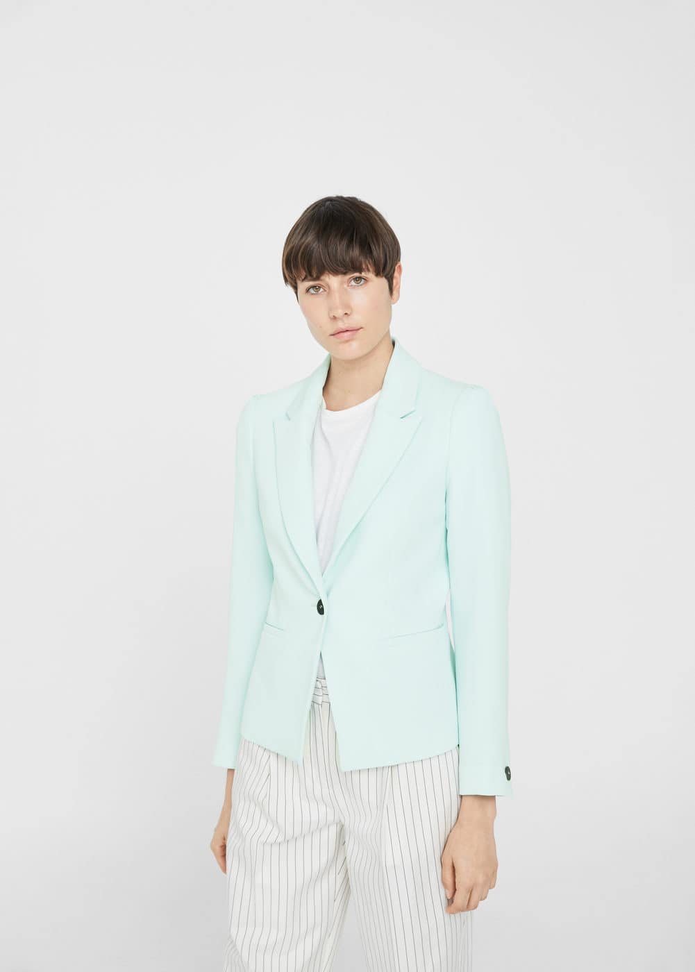 Puffed-shoulder blazer | MANGO