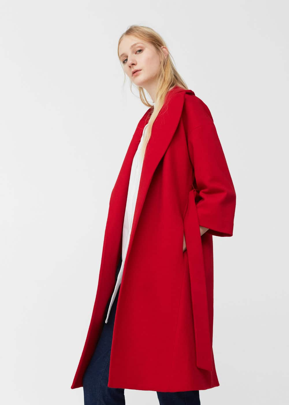 Belt wool coat | MNG