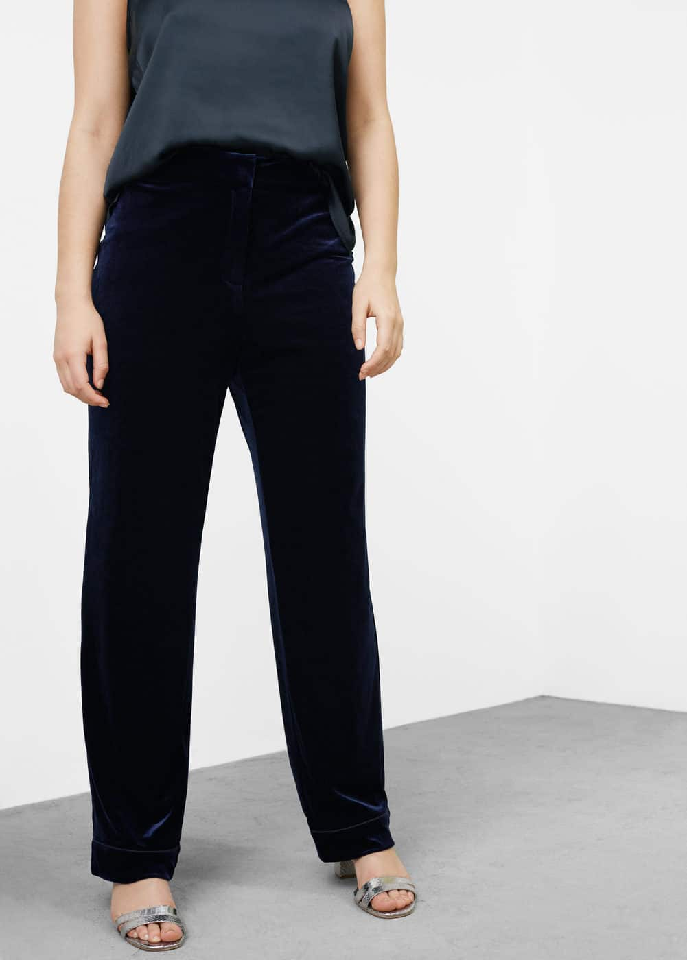 Velvet trousers | VIOLETA BY MANGO