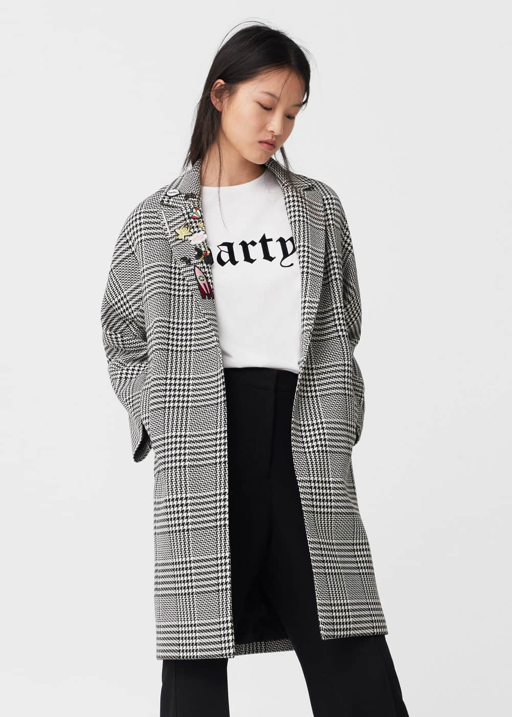 Patches houndstooth coat | MANGO