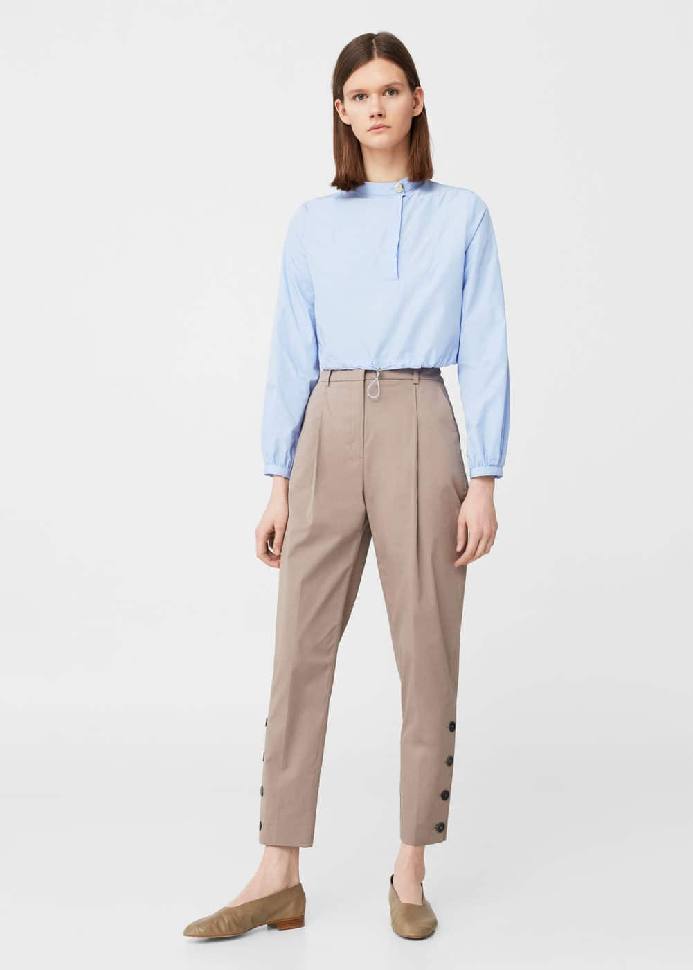 Side buttons trousers | MANGO