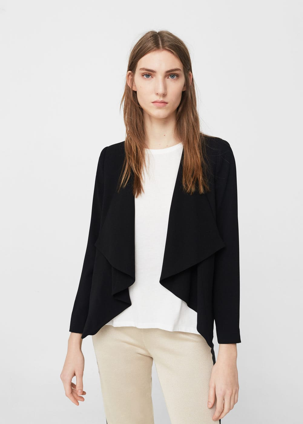 Inverted lapels blazer | MANGO