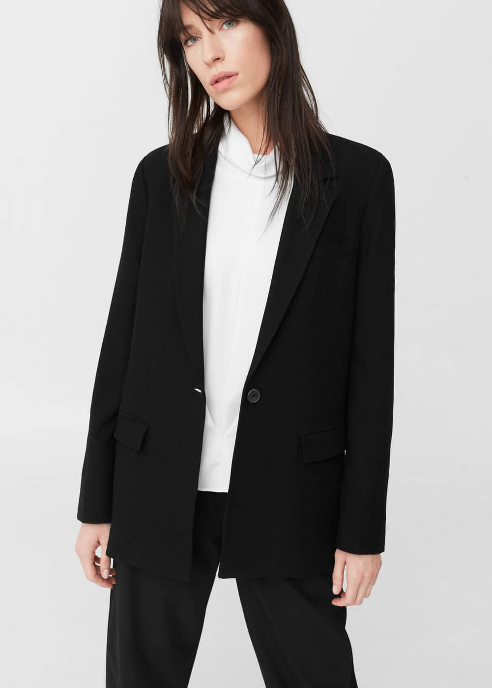 Textured wool blazer | MANGO