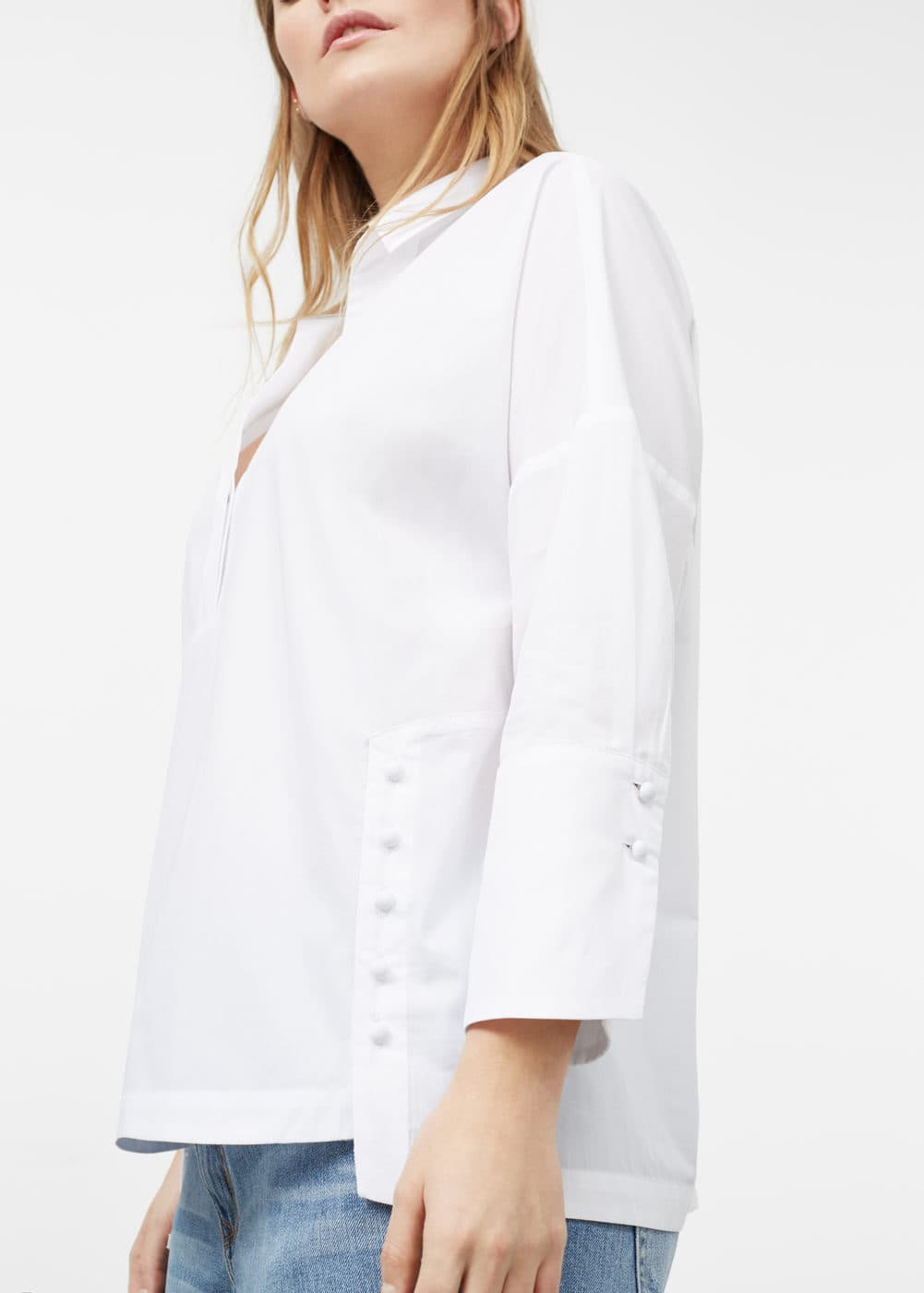Buttoned cotton shirt | VIOLETA BY MANGO