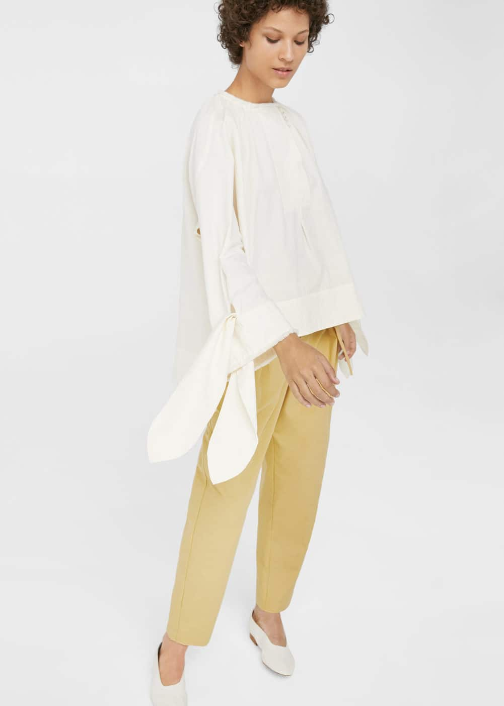 Organic cotton blouse | MANGO