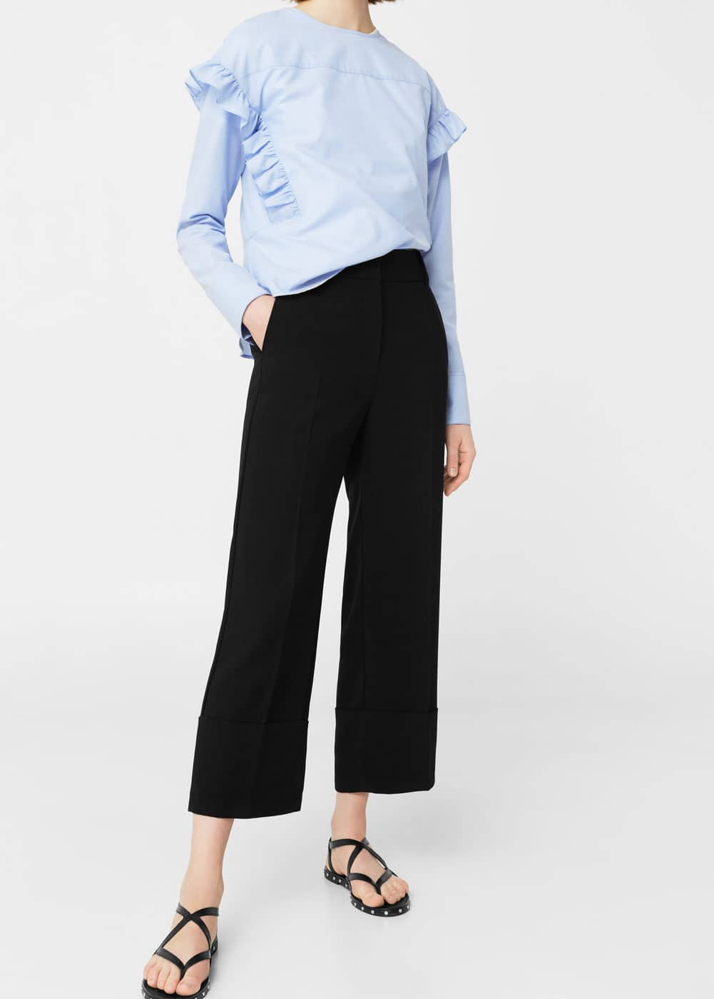 Rolled-up hem trousers | MANGO