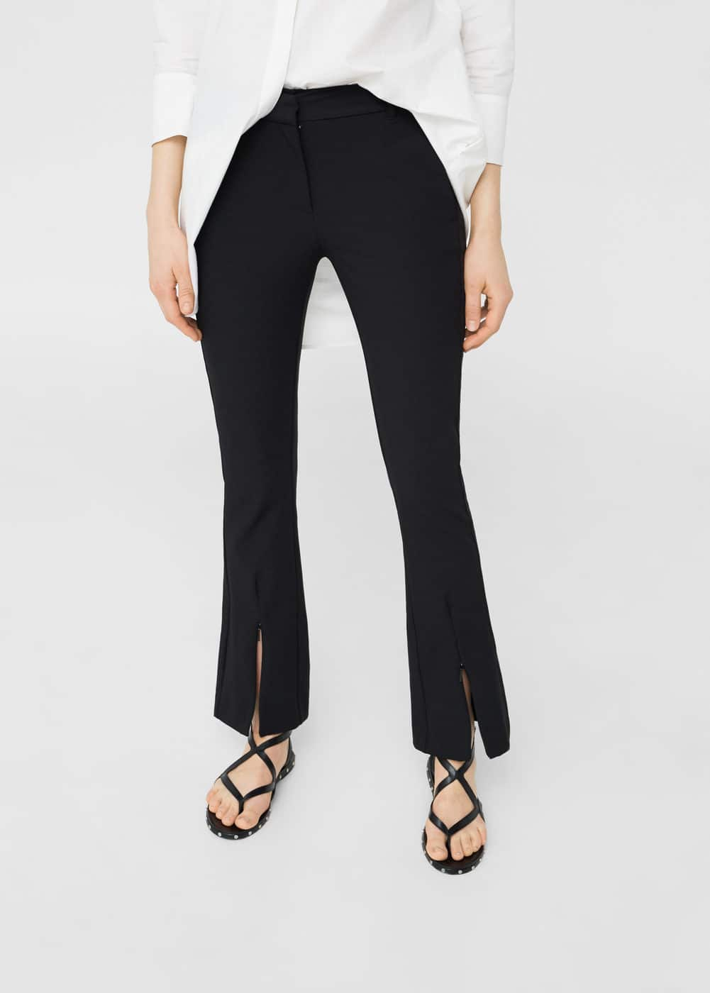 Zipped hem trousers | MANGO