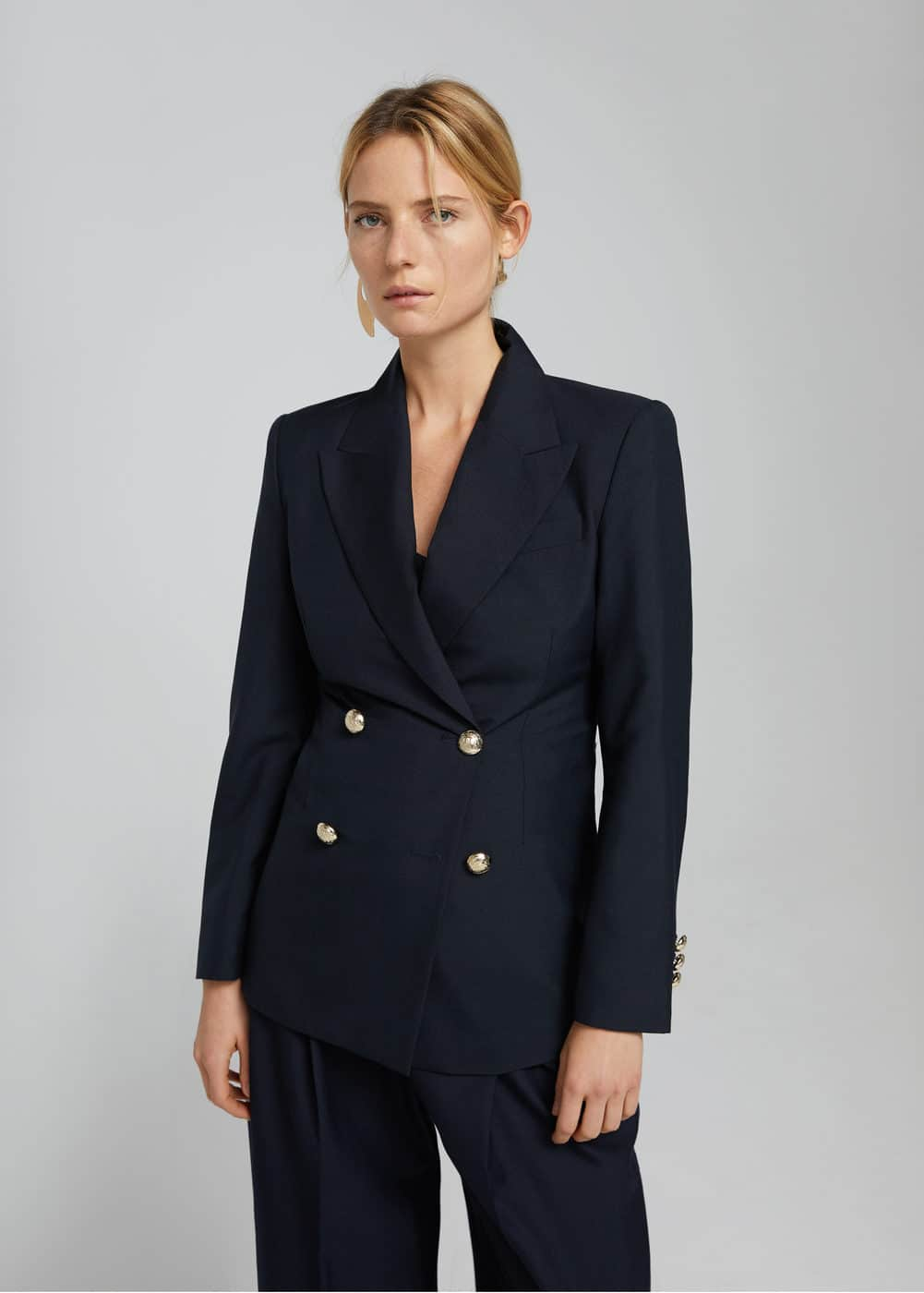 Structured wool blazer | MANGO