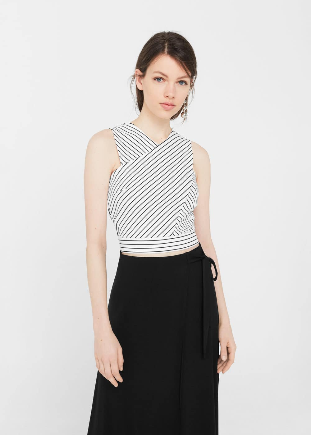 Wrap crop top | MNG