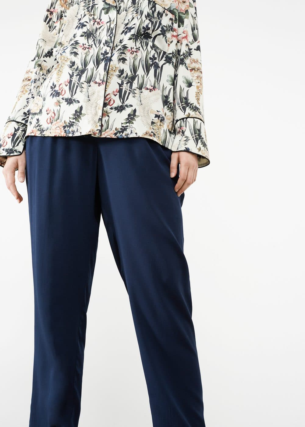 Flowy baggy trousers | VIOLETA BY MANGO