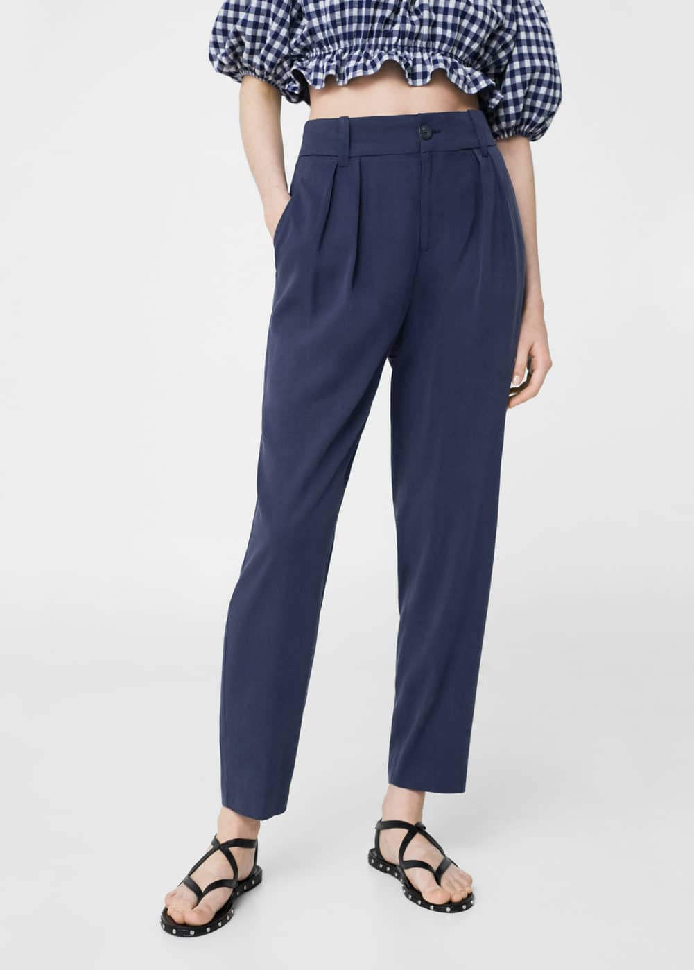 Soft straight trousers | MANGO