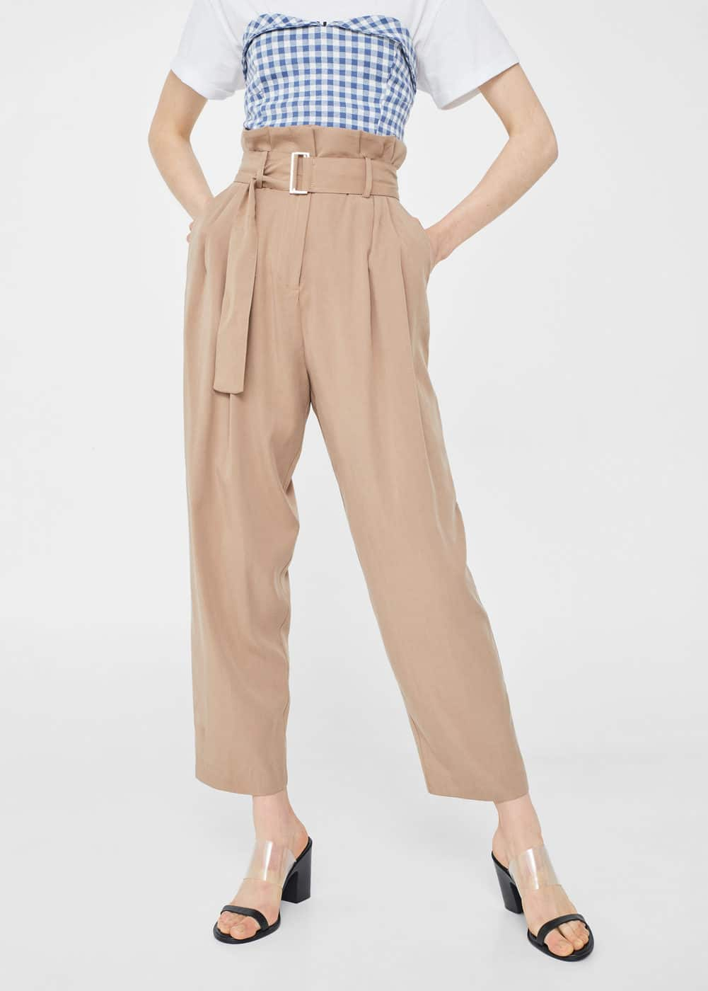 High-waist trousers | MNG