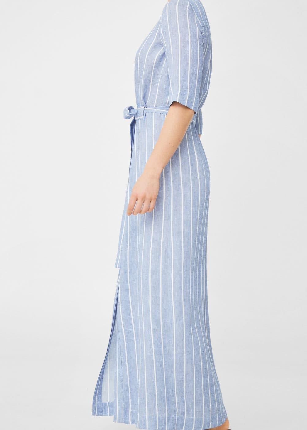 Striped linen dress | MNG