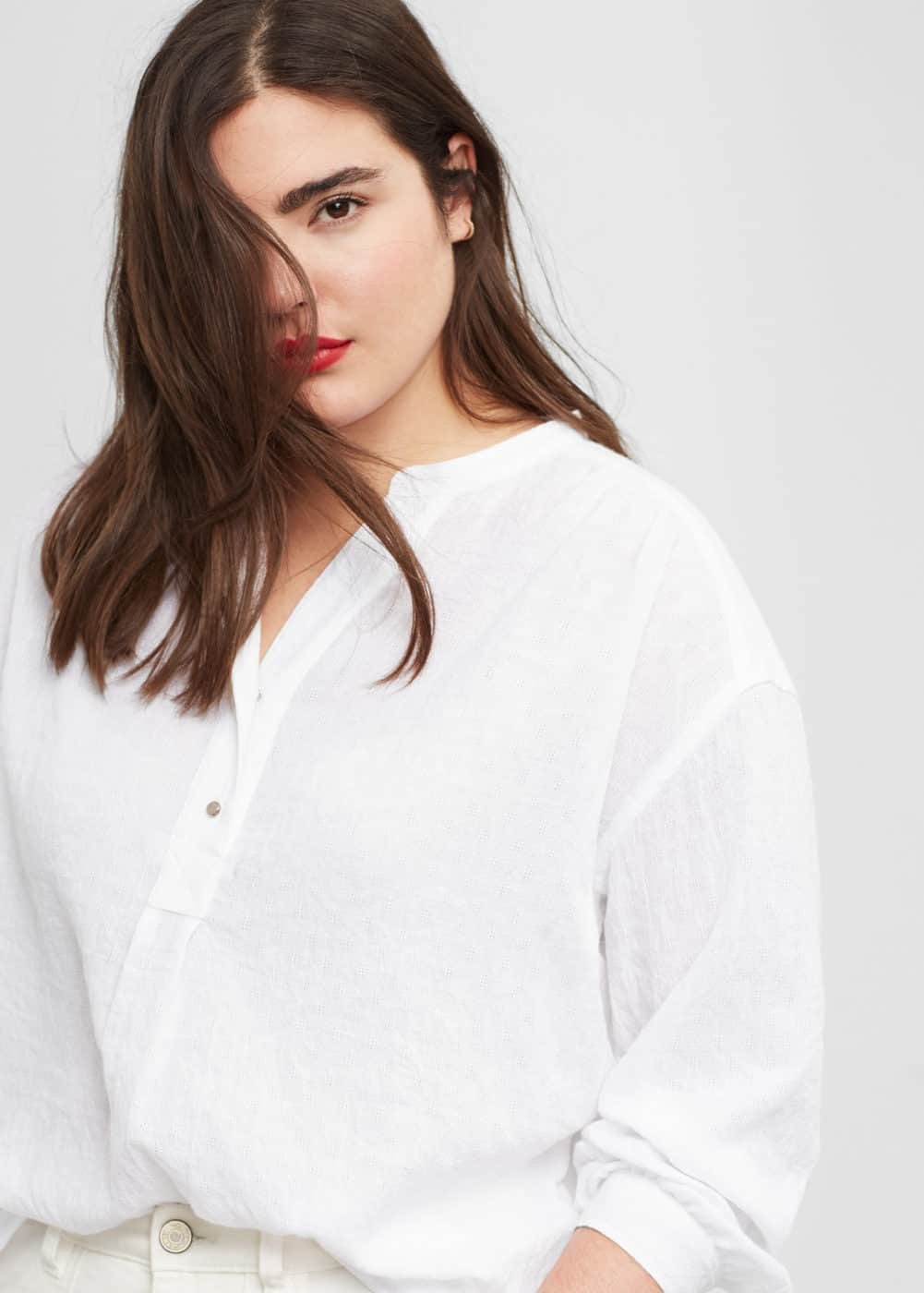 Flowy textured blouse | VIOLETA BY MANGO
