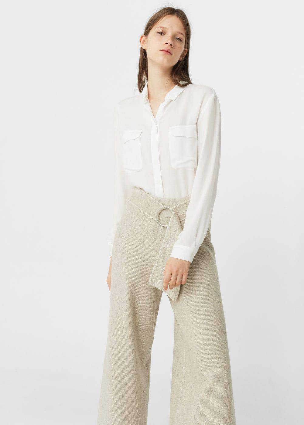 Pockets flowy shirt | MANGO
