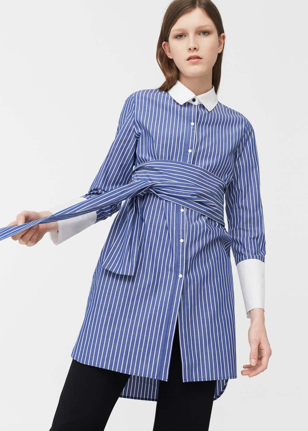 Oversize striped shirt | MANGO