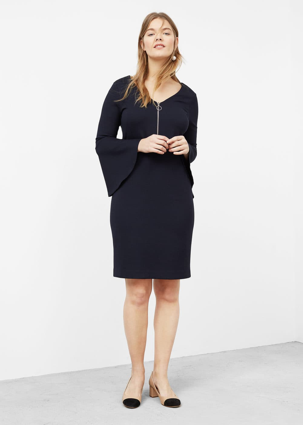 Flared sleeves dress | VIOLETA BY MANGO