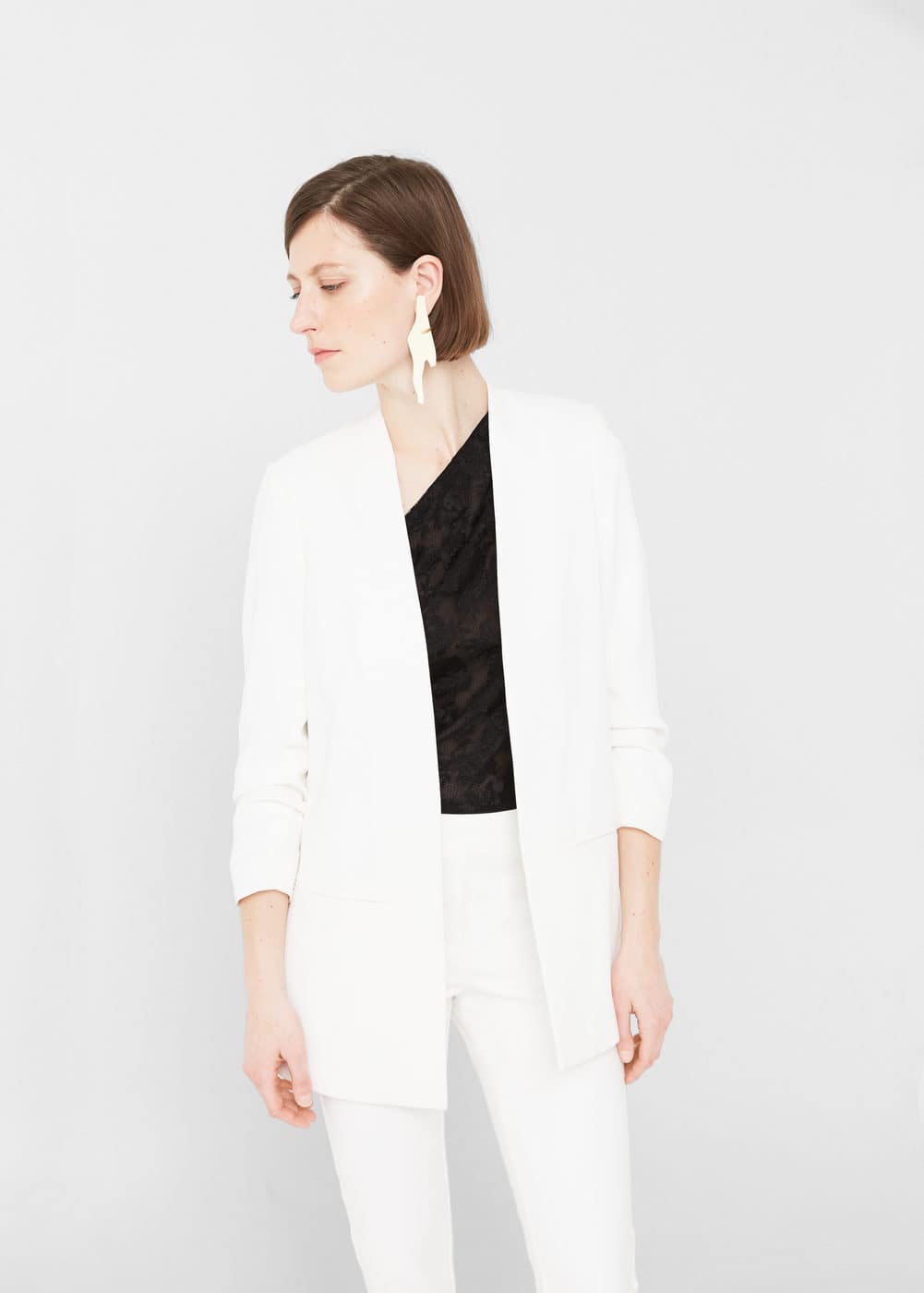 Ruched sleeves blazer | MNG