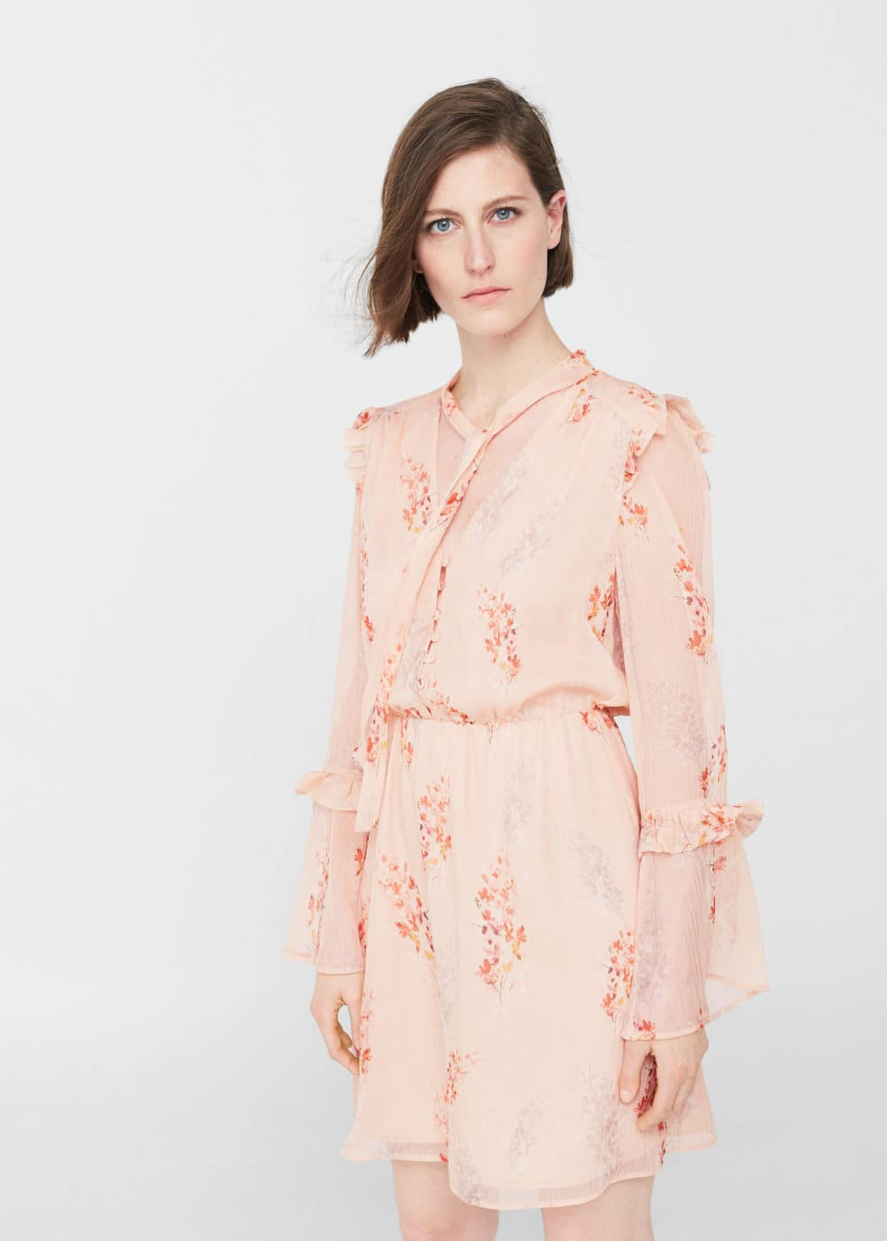 Floral ruffled dress | MANGO